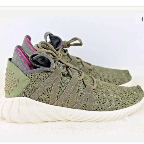 finest selection 8a2e9 2c1a4 Adidas Tubular Dawn Green Shoes NWT